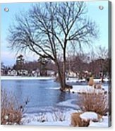 A Peaceful Winter Day Acrylic Print