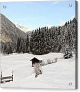 A Peaceful Winterscene Acrylic Print