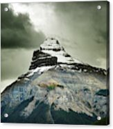 A Peak Of A Mountain Top In The Rocky Acrylic Print