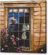 A Peek Through The Window Acrylic Print