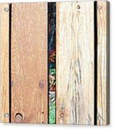 A Peek Through Wood Acrylic Print