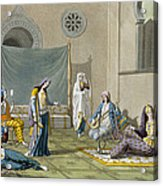 A Persian Harem, From Le Costume Ancien Acrylic Print