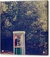 A Phone In A Booth? Acrylic Print