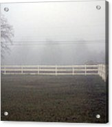 A Picket Fence In An Early Morning Mist Acrylic Print