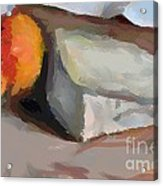 A Piece Of Goat Cheese Acrylic Print