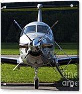 A Pilatus Pc-12 Private Jet Acrylic Print