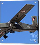 A Pilatus Pc-6 Of The Swiss Air Force Acrylic Print
