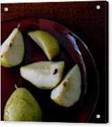 A Plate Of Pears Acrylic Print