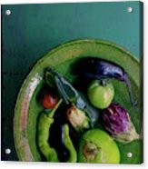 A Plate Of Vegetables Acrylic Print
