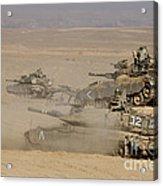 A Platoon Of Israel Defense Force Acrylic Print