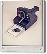 A Polaroid Of A Polaroid Taking A Polaroid Of A Polaroid Taking A Polaroid Of A Polaroid Taking A .. Acrylic Print