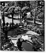 A Pond In An Ornamental Garden Acrylic Print