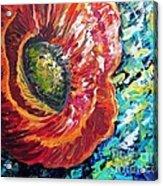 A Poppy Takes Center Stage Acrylic Print