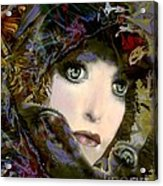 A Portrait Of A Friend Acrylic Print by Doris Wood