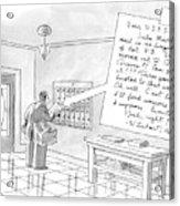 A Postman Reads A Letter Left Acrylic Print