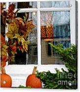 A Pretty Autumn Window Acrylic Print