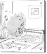 A Psychiatrist Or Psycho-analyst Sits Acrylic Print