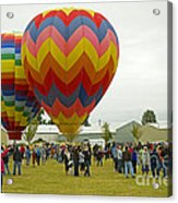 Albany Oregon Art And Air Show Hot Air Balloon Lift Off Acrylic Print