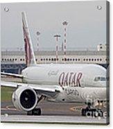 A Qatar Airways Cargo Boeing 777 Acrylic Print
