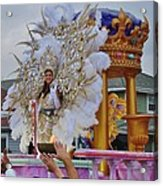 A Queen Of Carnival During Mardi Gras 2013 Acrylic Print