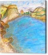A Quiet Beach  Acrylic Print