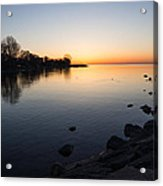 A Quiet Sunrise - Toronto Lake Ontario Acrylic Print