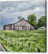 A Quilted Barn Acrylic Print