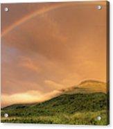 A Rainbow Appeared Over Mt. Washington Acrylic Print