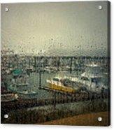 A Rainy Evening On The Port Acrylic Print