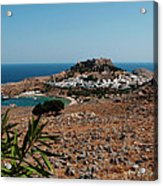 A Red Flower To Lindos Acrylic Print