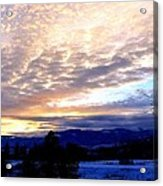 A Remarkable Winter Evening Acrylic Print