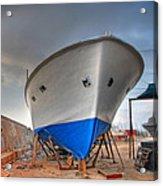 a resting boat in Jaffa port Acrylic Print