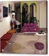 A Retro Living Room Acrylic Print