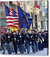 A Revolutionary Battalion Marching In The 2009 New York St. Patrick Day Parade Acrylic Print