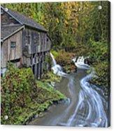 A River Flows Through It Acrylic Print
