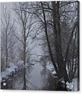 A River In March Acrylic Print by BandC  Photography
