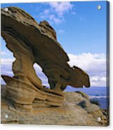 A Rock Formation Shaped By Wind Erosion Acrylic Print