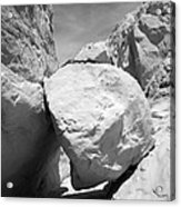 A Rock In A Hard Place. Acrylic Print