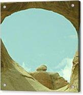 Rock Inside The Window Acrylic Print