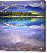 A Rocky Sunset Acrylic Print