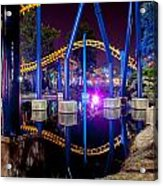 A Rollercoaster At A Theme Park In Usa Acrylic Print