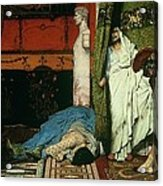 A Roman Emperor   Claudius Acrylic Print by Sir Lawrence Alma Tadema