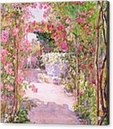 A Rose Arbor And Old Well, Venice Acrylic Print