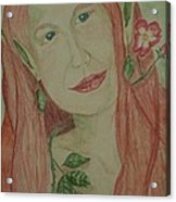 A Rose Faerie Acrylic Print