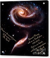 A Rose Made Of Galaxies For Spock Acrylic Print