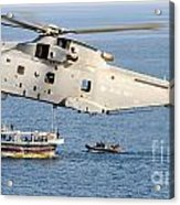 A Royal Navy Merlin Helicopter  Acrylic Print