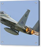 A Royal Saudi Air Force F-15c Acrylic Print