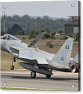 A Royal Saudi Air Force F-15c Landing Acrylic Print