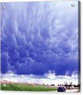 A Rural Nebraska Highway And Magnificent Sky Acrylic Print