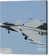 A Saab Jas 39 Gripen C Of The Royal Acrylic Print